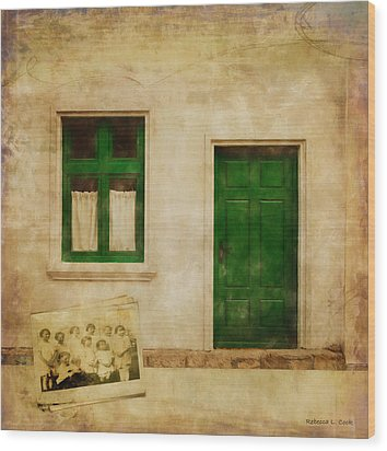 Wood Print featuring the painting Memories Of Irish Green by Bellesouth Studio