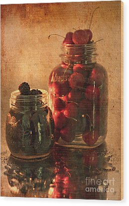 Memories Of Jams, Preserves And Jellies  Wood Print