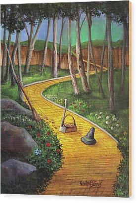 Memories Of Oz Wood Print