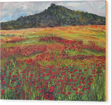 Wood Print featuring the painting Memories Of Provence by Michael Helfen