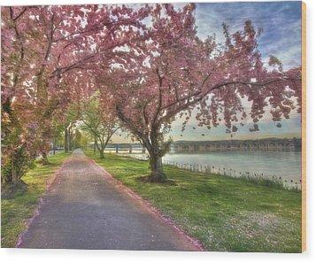 Memories Of Spring Wood Print by Lori Deiter