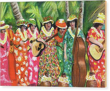 Memories Of The Kodak Hula Show At Kapiolani Park In Honolulu #20 Wood Print by Donald k Hall