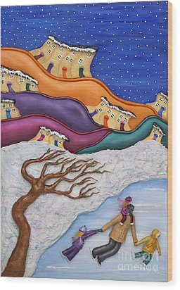 Memories On Ice Wood Print by Anne Klar