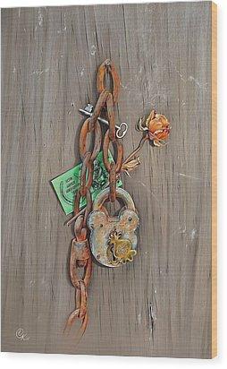 Wood Print featuring the drawing Memory Board by Elena Kolotusha