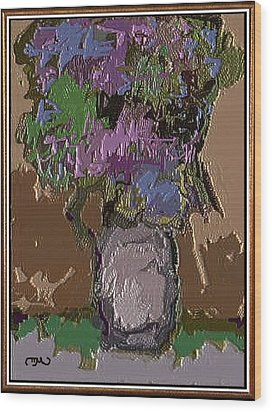 Wood Print featuring the digital art Memory For Flowers Mof 4 by Pemaro