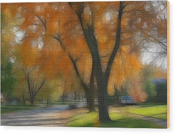 Memory Of An Autumn Day Wood Print by Lyle Hatch