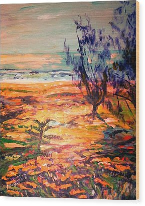 Wood Print featuring the painting Memory Pandanus by Winsome Gunning