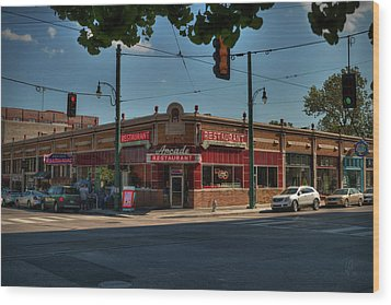 Wood Print featuring the photograph Memphis - Arcade Restaurant 001 by Lance Vaughn