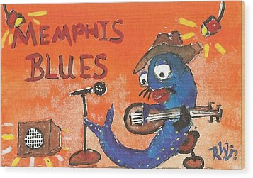 Memphis Blues Wood Print by Robert Wolverton Jr