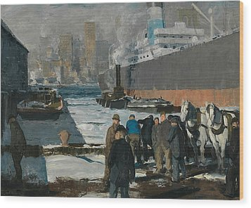 Men Of The Docks Wood Print