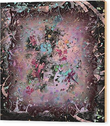 Menagerie Wood Print by Rachel Christine Nowicki