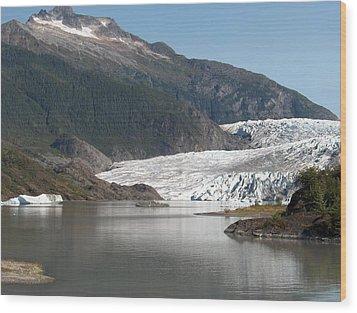 Mendenhall Glacier Alaska Wood Print by Janet  Hall