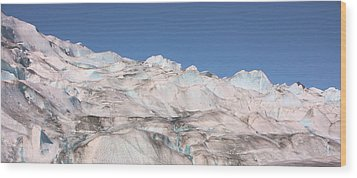 Wood Print featuring the photograph Mendenhall Glacier Panoramic by Kristin Elmquist