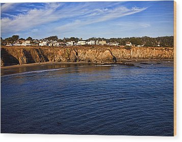 Mendocino Coastal Town Wood Print by Garry Gay