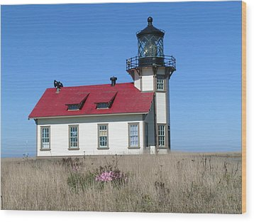 Mendocino Lighthouse Wood Print