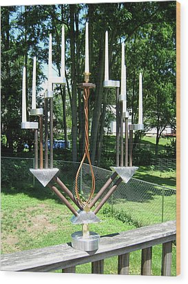 Menorah Wood Print