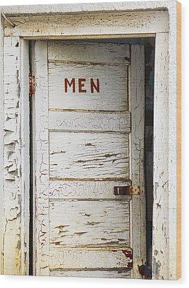 Men's Room Wood Print by Marilyn Hunt