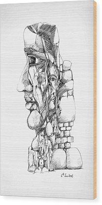 Mental Images 1 Wood Print