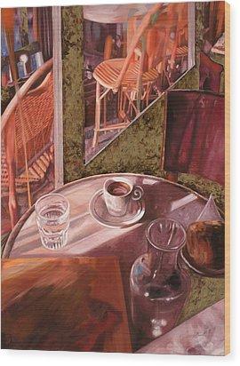 Mentre Ti Aspetto Wood Print by Guido Borelli