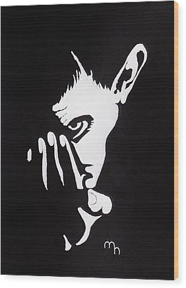Mephisto Wood Print by Marie Halter