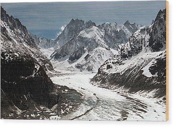 Mer De Glace - Mont Blanc Glacier Wood Print