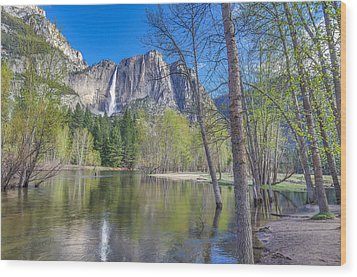 Wood Print featuring the photograph Merced River In Spring by Scott McGuire