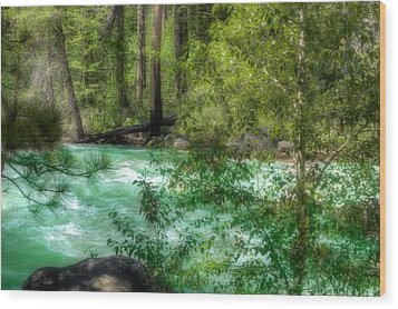 Merced River Wood Print by Michael Cleere