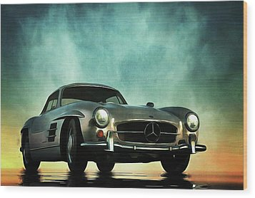 Mercedes 300sl Wood Print
