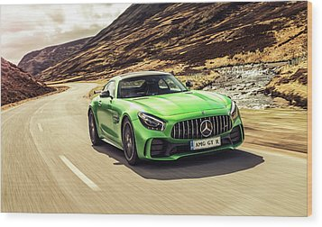 Mercedes A M G  G T  R Wood Print by Movie Poster Prints