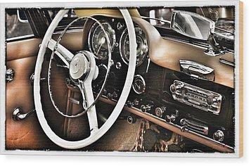Mercedes Benz 190 Sl Wood Print