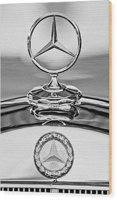 Mercedes Benz Hood Ornament 2 Wood Print by Jill Reger