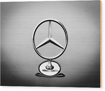 Mercedes Benz Logo Wood Print