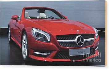 Mercedes Benz Sl Wood Print