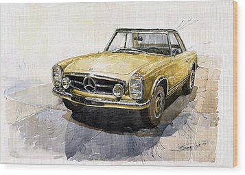 Mercedes Benz W113 Pagoda Wood Print by Yuriy  Shevchuk
