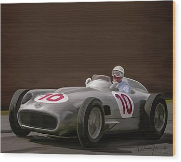Mercedes-benz W196 Number 10 Wood Print by Wally Hampton