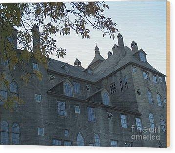Mercer Museum At Dusk In Doylestown Pa Wood Print