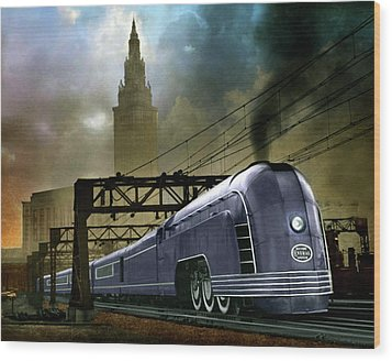 Mercury Train Wood Print