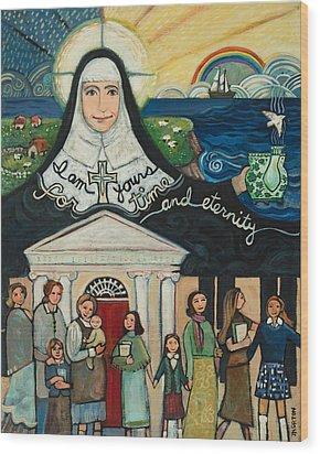 Mercy Foundress Catherine Mcauley Wood Print