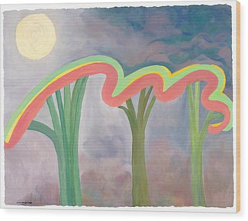 Mercy Nights Wood Print by Nancy Brockett