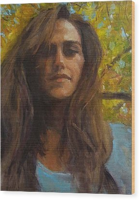 Meredith In Autumn Wood Print by Brian Kardell