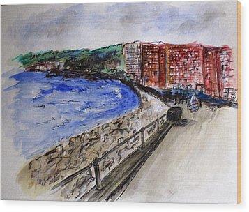 Mergelina Way Napoli Wood Print by Clyde J Kell