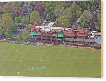 Merion Cricket Club Cricket Festival Clubhouse Wood Print by Duncan Pearson