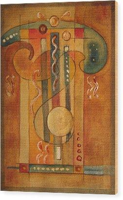 Merlin Wood Print by Dan Earle