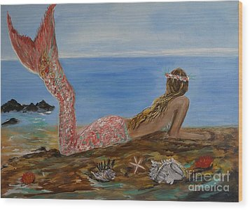 Mermaid Beauty Wood Print