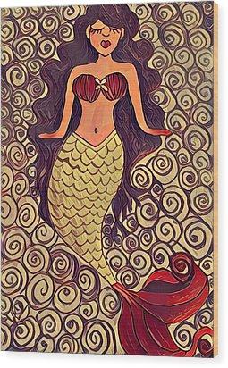 Mermaid Dreams Wood Print