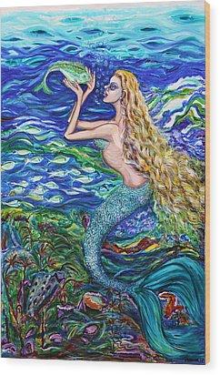 Mermaid Fishnet  Wood Print by Yelena Rubin