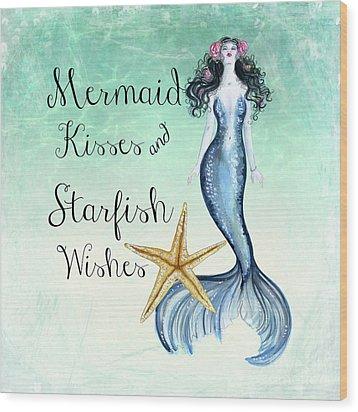Mermaid Kisses Wood Print