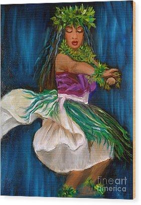 Merrie Monarch Hula Wood Print