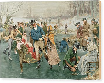Merry Christmas Wood Print by Frank Dadd