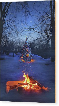Wood Print featuring the photograph Merry Christmas by Phil Koch